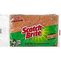 Scotch-Brite 41Y-2M Cup/Glass Scourer, Brown, Pack of 2