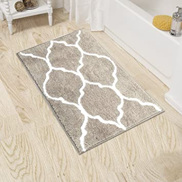 Amazoncom HEBE Nonslip Microfiber Bathroom Rug Shag Shower Mat