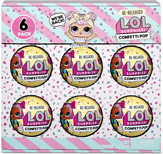 Amazon.com: L.O.L. Surprise! Confetti Pop 6 Pack Dawn – 6 Re-Released Dolls Each with 9 Surprises: Toys & Games