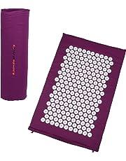 Ultrasport Esterilla de acupresión/esterilla yantra con bolsa de transporte, esterilla de acupuntura multiusos, compacta y portátil; esterilla para relajarse y reducir el estrés, en 3 tamaños