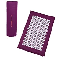Ultrasport tapis d'acupressure / tapis de yantra y compris un sac de transport, tapis de stimulation par aiguilles polyvalent, tapis compact et mobile - tapis pour la relaxation et la réduction du stress, disponible en 3 tailles