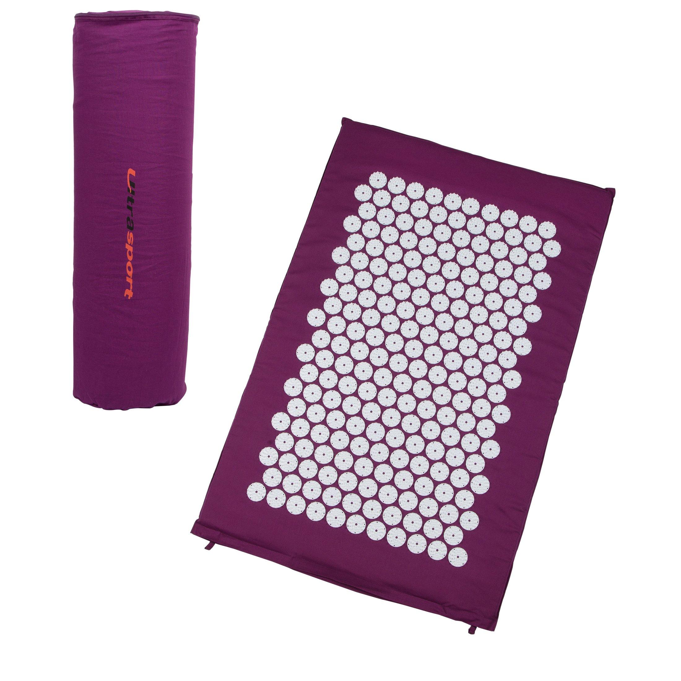 Ultrasport Esterilla de acupresión / esterilla yantra con bolsa de transporte, esterilla de acupuntura multiusos