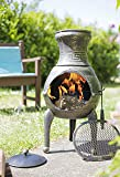 Bronze Squat 100% Cast Iron Chiminea Chimenea Patio Heater