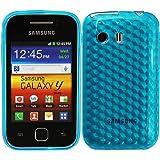 Luxburg® Housse Etui Coque Samsung Galaxy Y GT-S5360 silicone case TPU Bleu aigue-marine / bleu clair