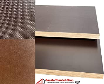 125 x 20 cm Siebdruckplatten 27mm 59,90/€m/² Siebdruckplatte Siebdruck Sperrholz Birke Anh/änger NEU