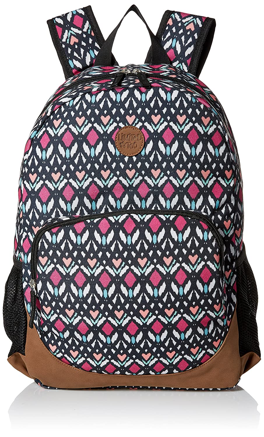 Amazon.com | Limited Too Big Girls Canvas Backpack, Tribal, One ...