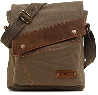 Amazon.com: AG9088Lv Magictodoor Small Vintage Canvas Messenger ...
