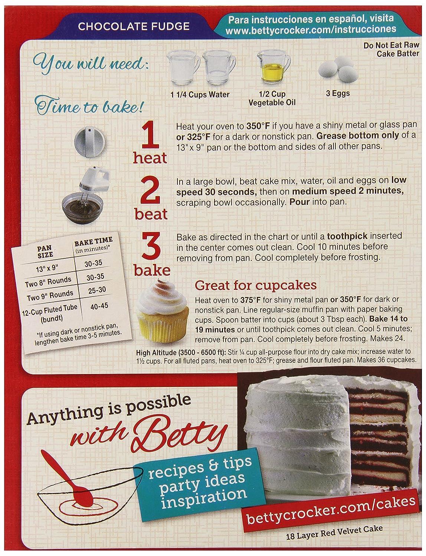 Betty Crocker Chocolate Cake Mix Nutrition