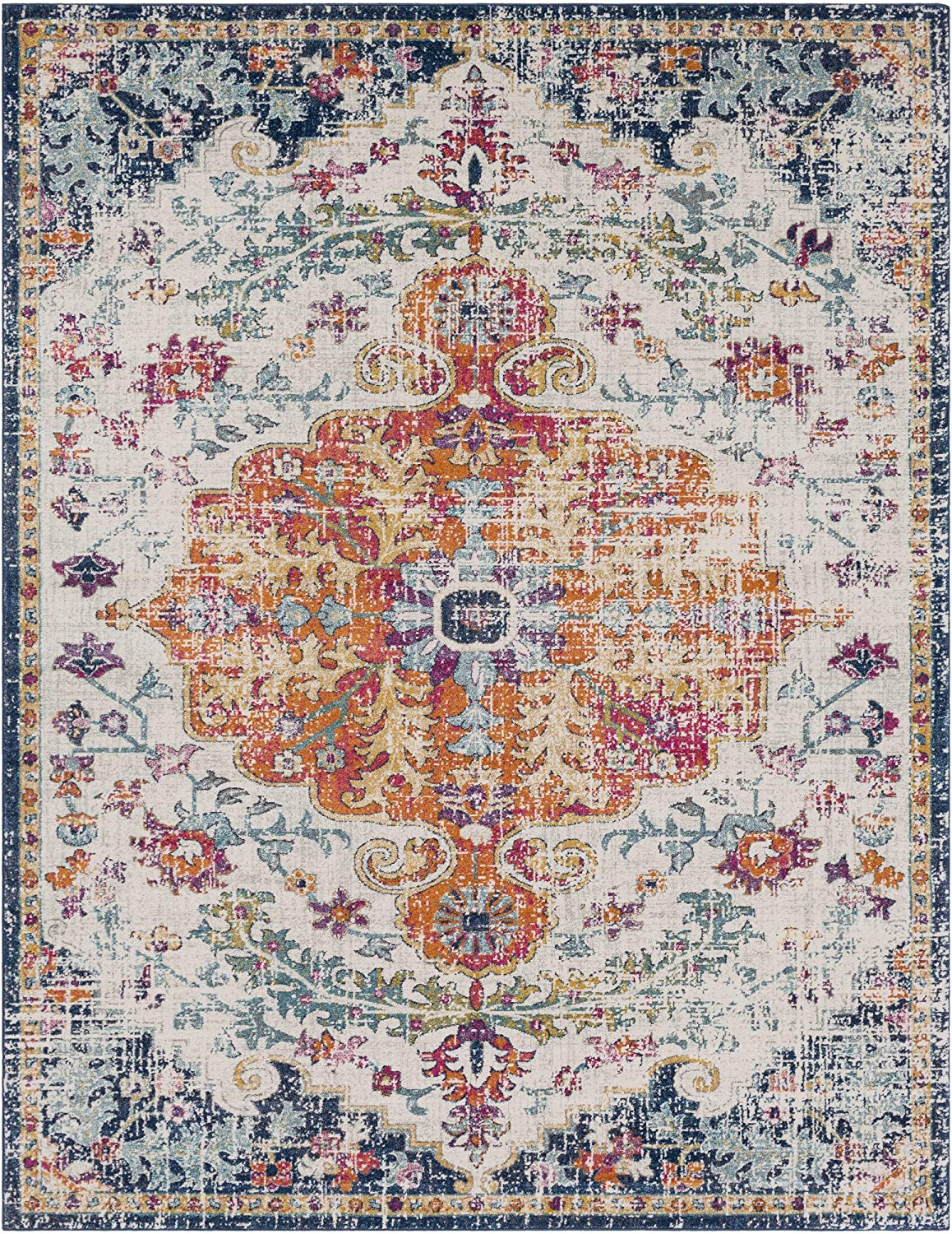 Artistic Weavers Odelia Updated Traditional Rug Orange//Navy 710 x 103