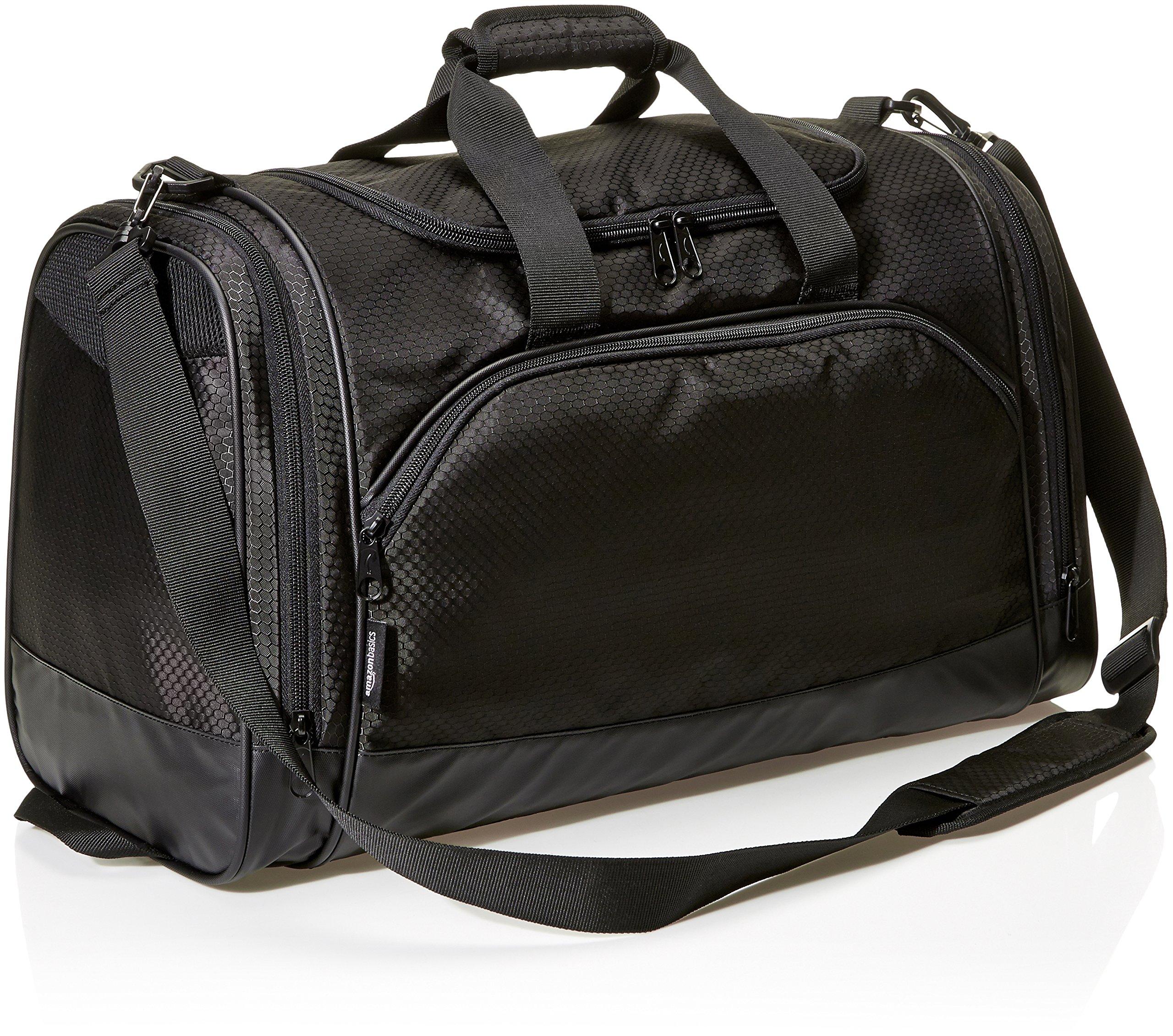 AmazonBasics Small Lightweight Durable Sports Duffel Gym and Overnight Travel Bag - Black by AmazonBasics