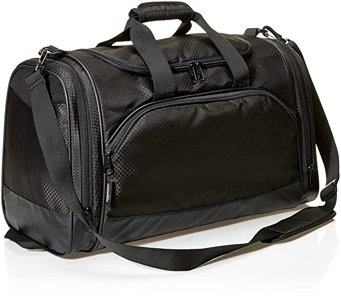 popular brand footwear quality products AmazonBasics Lightweight Durable Sports Duffel Gym and Overnight Travel Bag