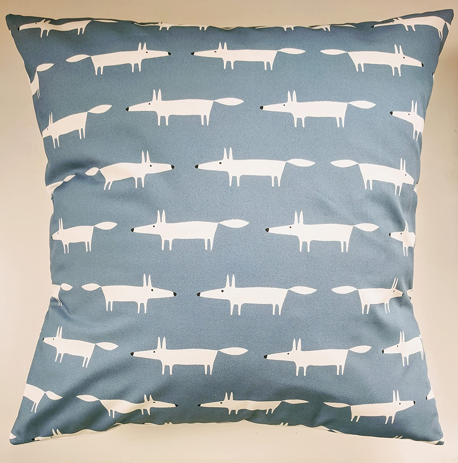 Cushion Cover in Scion Mini Mr Fox Navy Blue 16'