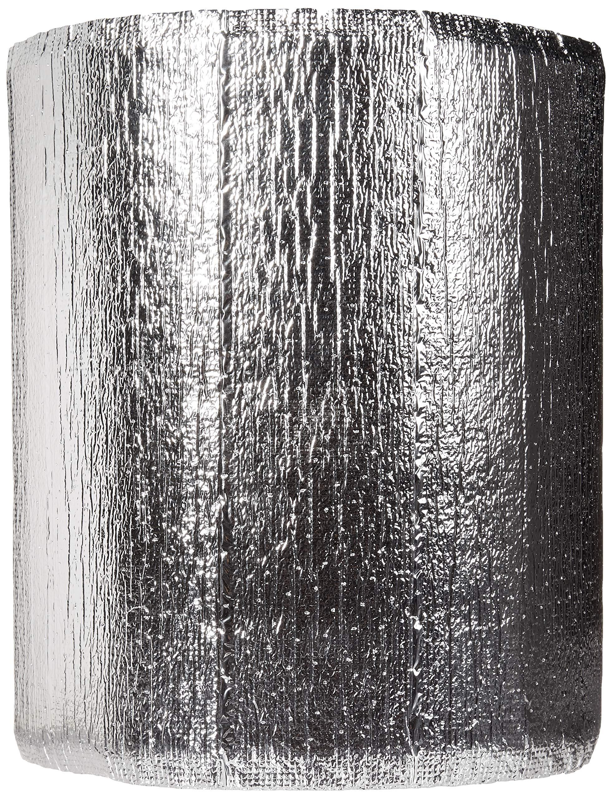 Premium Heat Reflective Insulation Roll (12'' x 50') Reflective Aluminum Insulation Roll with Foam for Walls, Attics, Air Ducts, Windows, Radiators. HVAC and Garages