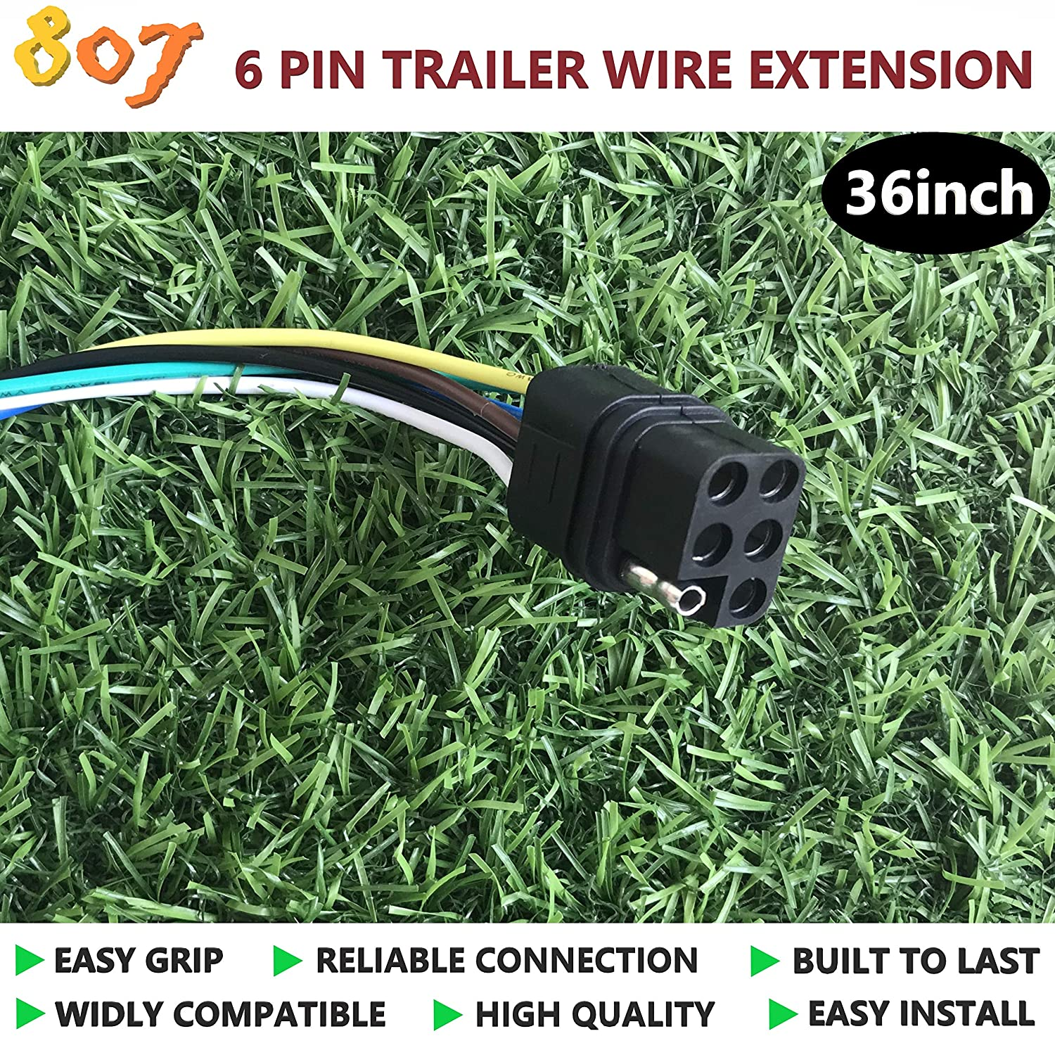 807 2/3/4/5/6/8 Way Trailer Wiring Harness Connectors 36 Vehicle ...