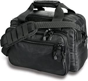 Uncle Mike's Law Enforcement Side-Armor Deluxe Range Bag, Black