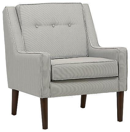 Charmant Stone U0026 Beam Modern Sweeping Arm Accent Chair, 28u0026quot; W, Oxford Stripe