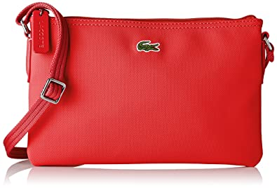 df010629c2 Lacoste Sac Crossover Toile Pvc Femme Bandouliere, Rouge (High Risk Red)  1x17.
