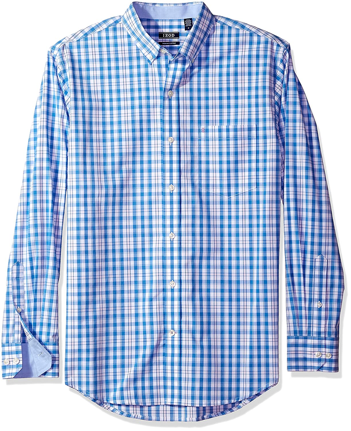 IZOD Men's Long Sleeve Medium Plaid Shirt 82SW992