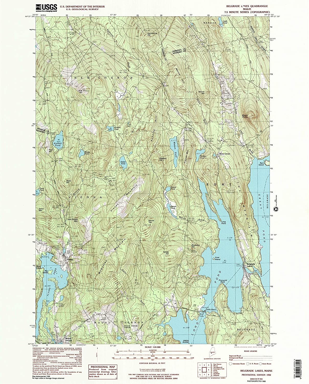 Amazon Com Yellowmaps Belgrade Lakes Me Topo Map 1 24000 Scale