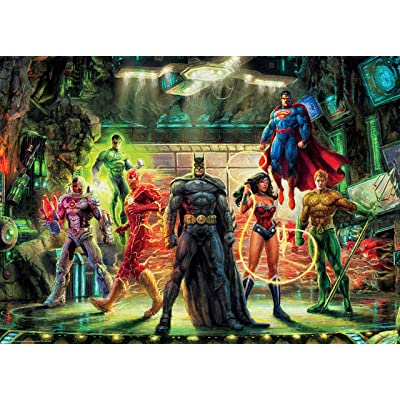 Ceaco 3154-2 Thomas Kinkade DC Comics The Justice League Puzzle 1000 Pieces: Toys & Games
