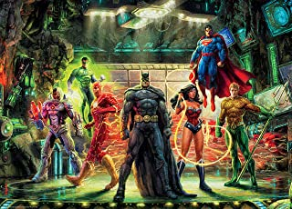 product image for Ceaco 3154-2 Thomas Kinkade DC Comics The Justice League Puzzle 1000 Pieces