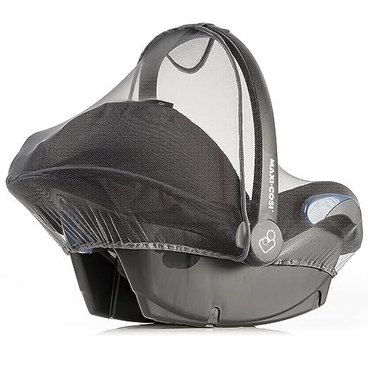 Zamboo Mosquitera Universal para Silla de coche bebé (p. ej. Maxi-Cosi, Cybex, Römer) | Red antiinsectos, resistente, con goma elástica y abertura ...