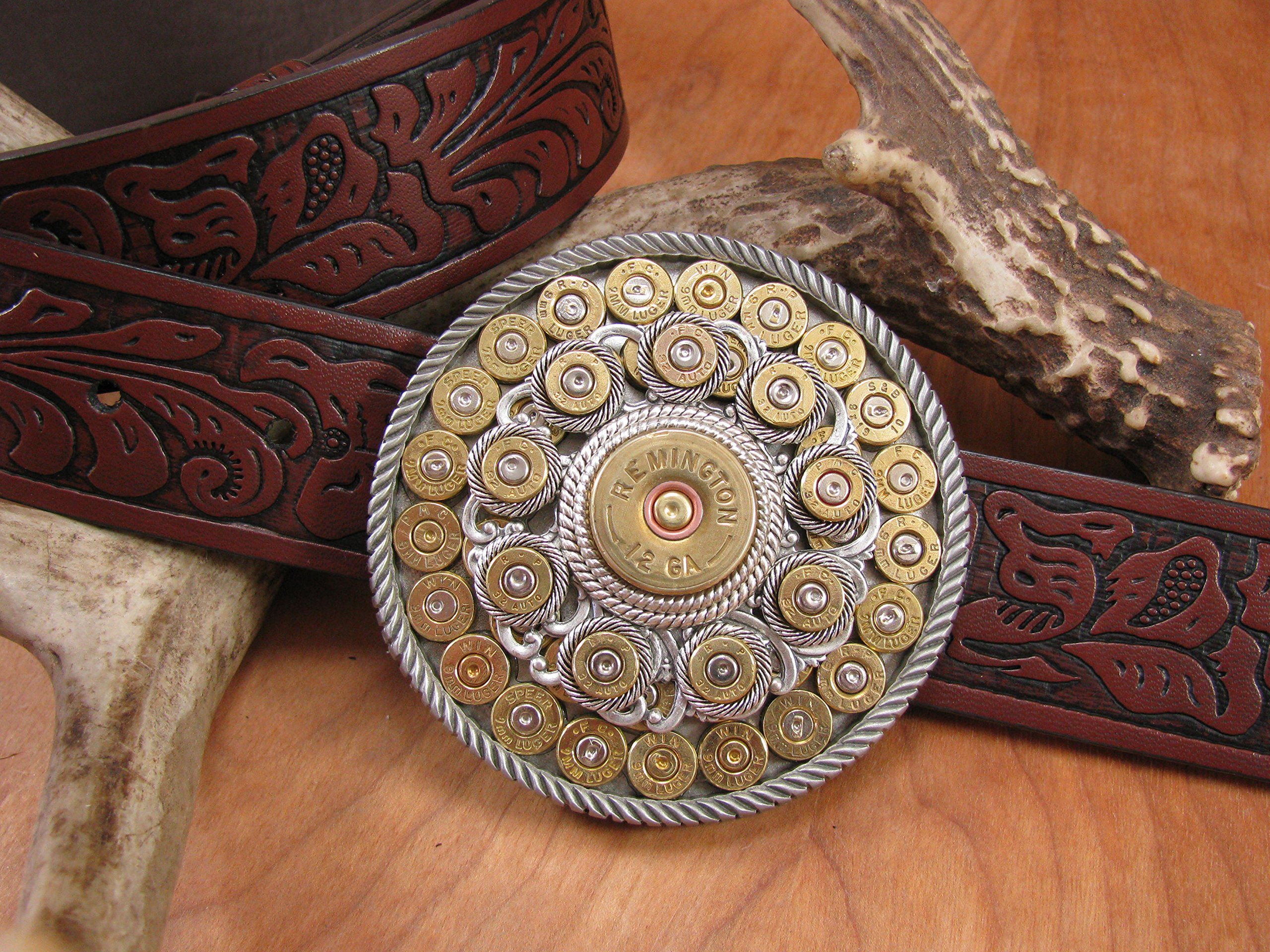 Shotgun & Bullet Casing Round Western Belt Buckle by SureShot Jewelry & Accessories