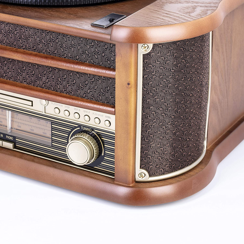 Camry CR-1160 - Tocadiscos Vintage, Radio FM, CD, USB, Grabación ...
