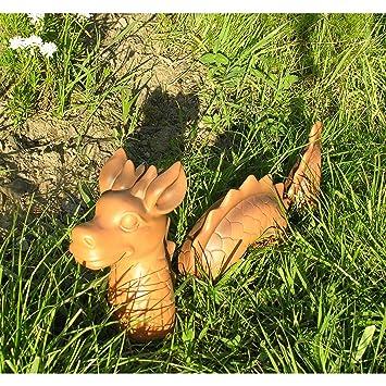 Beo 3 Tlg Lustiger Deko Drachen Lindwurm 46x9x20cm Garten Figur