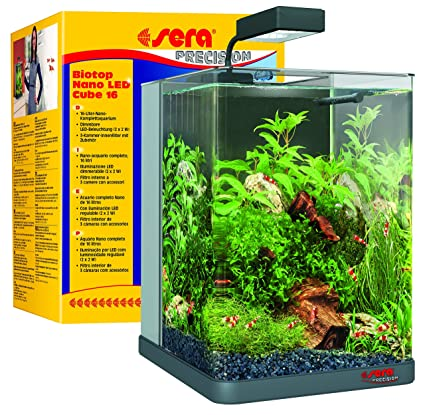 Sera 31066 Mondi Biotop Nano LED Cube 16 Un 16 L de Agua Dulce Nano de