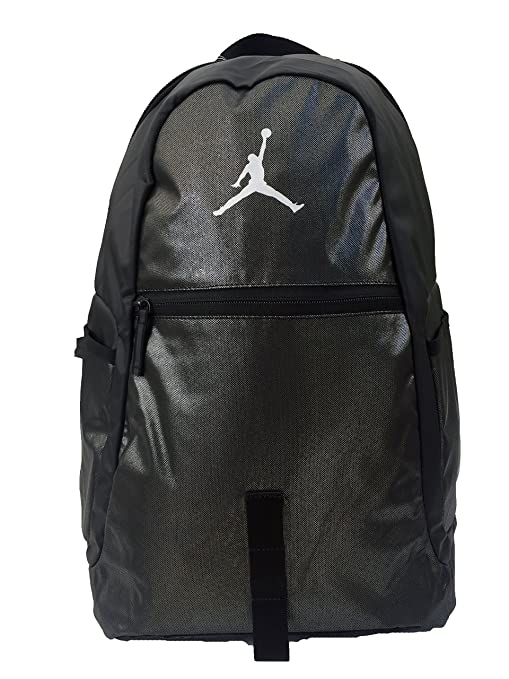 newest 7b072 16247 Amazon.com  Nike Michael Jordan Air Jumpman Backpack Bookbag, BLACK SILVER  LAPTOP STORAGE  Sports   Outdoors