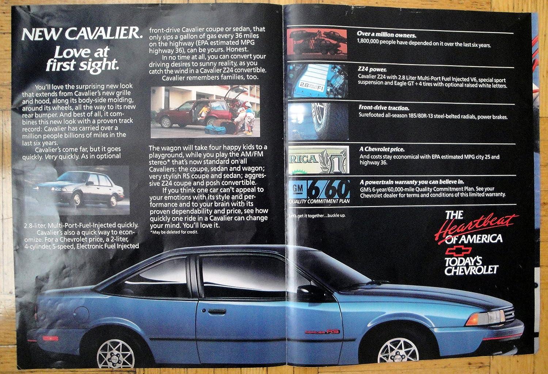 Amazon com : 1988 Chevrolet -Cavalier RS-2 Door-2 8 Liter-Original 2