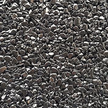 Piedras decorativas gravilla jardín grava color Negro Nero Ebano - 25Kg: Amazon.es: Bricolaje y herramientas
