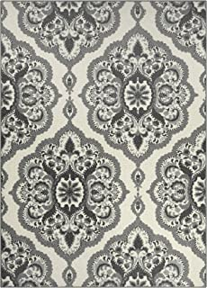 product image for Maples Rugs Vivian Medallion Area Rugs for Living Room & Bedroom [Made in USA], 5 x 7, Grey