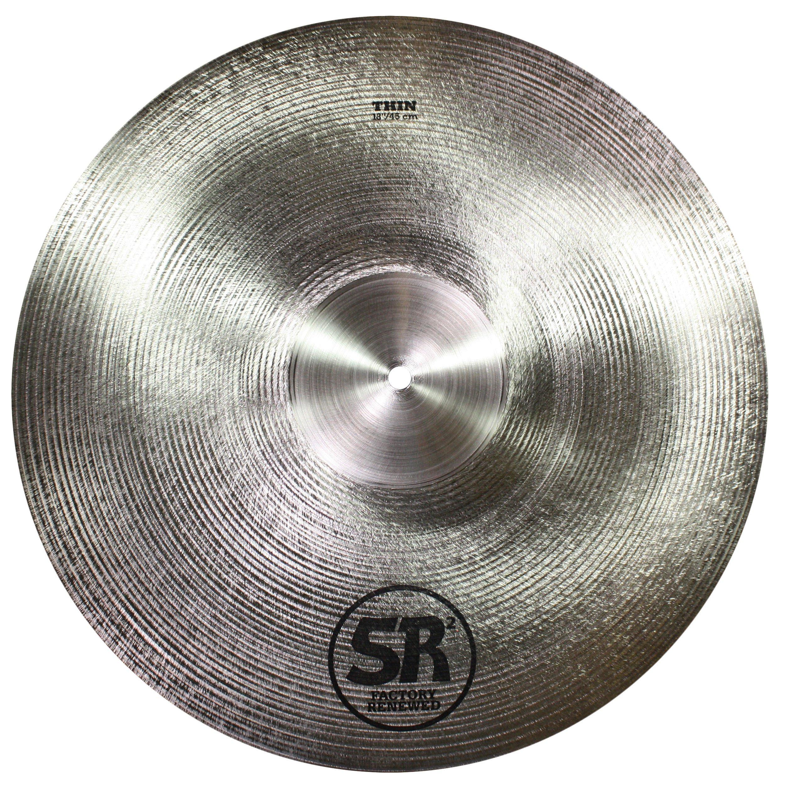 Sabian SR2 Factory Refreshed B20 Bronze Cast Cymbal - 18'' Thin, Crash/Ride