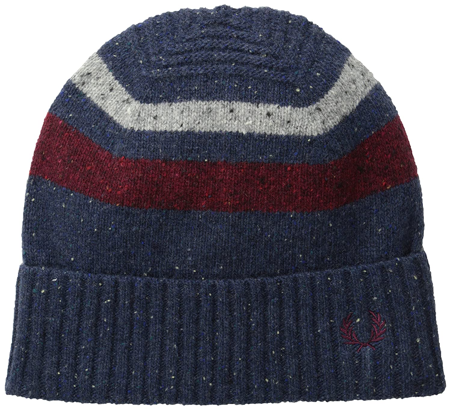 Fred PerryメンズTipped Beanie One Size Navy Marl/Medieval B00NDAZJC8