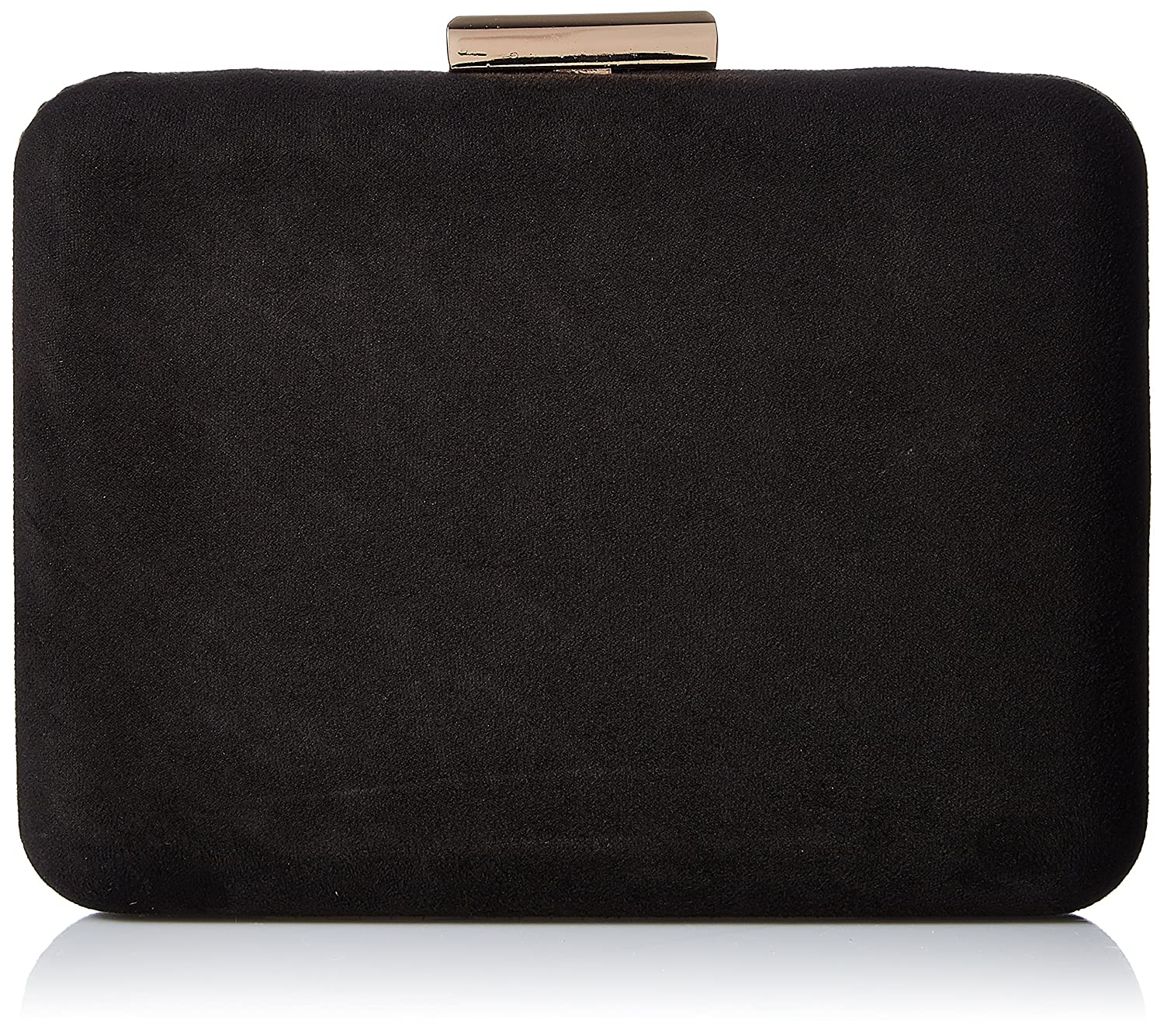 Accessorize Suedette Hardcase Clutch Bag - womens