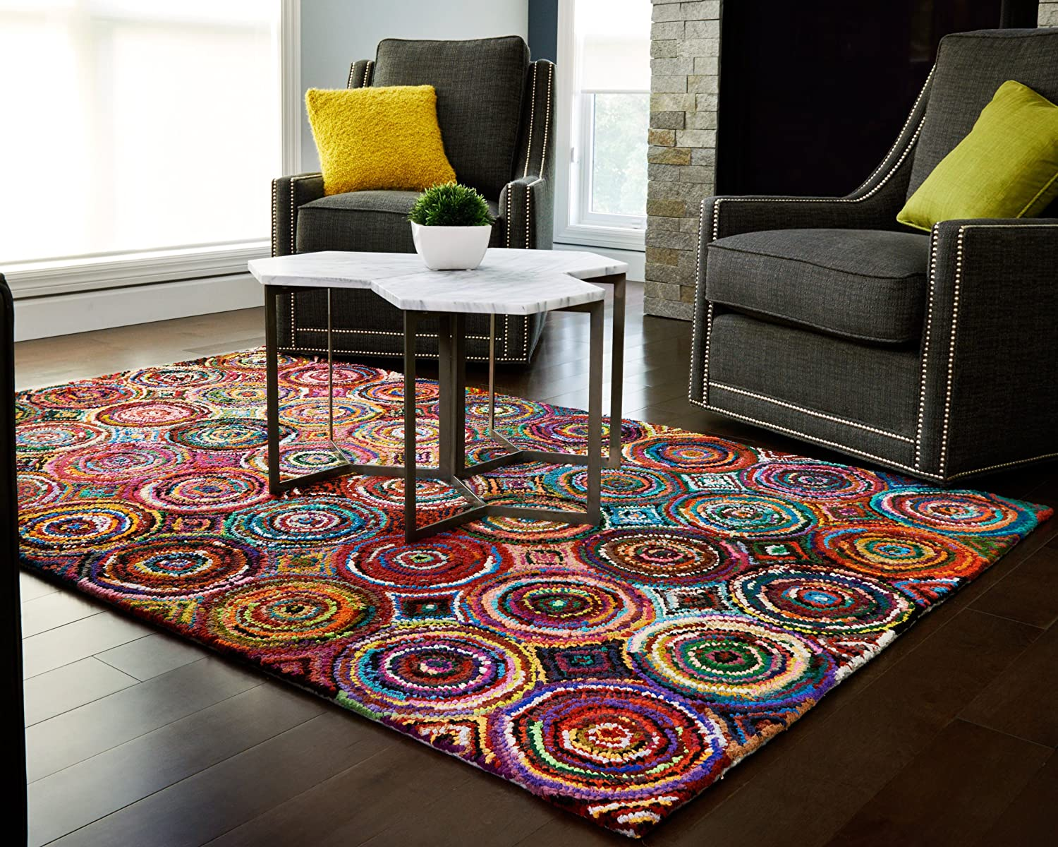 Amazon.com: Anji Mountain AMB1001 0046 Tangier Area Rug, Multicolor, 4 X 6 Feet:  Kitchen U0026 Dining Part 83