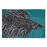 Deny Designs Valentina Ramos Beta Fish Woven Rug, 4