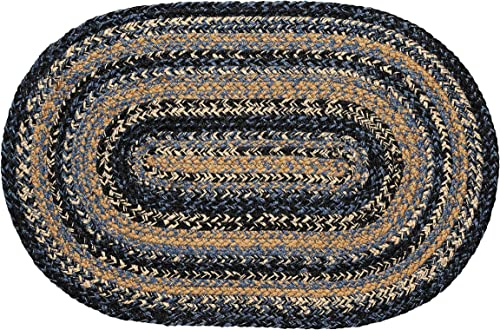 IHF Home Decor River Shale Jute Braided Rug
