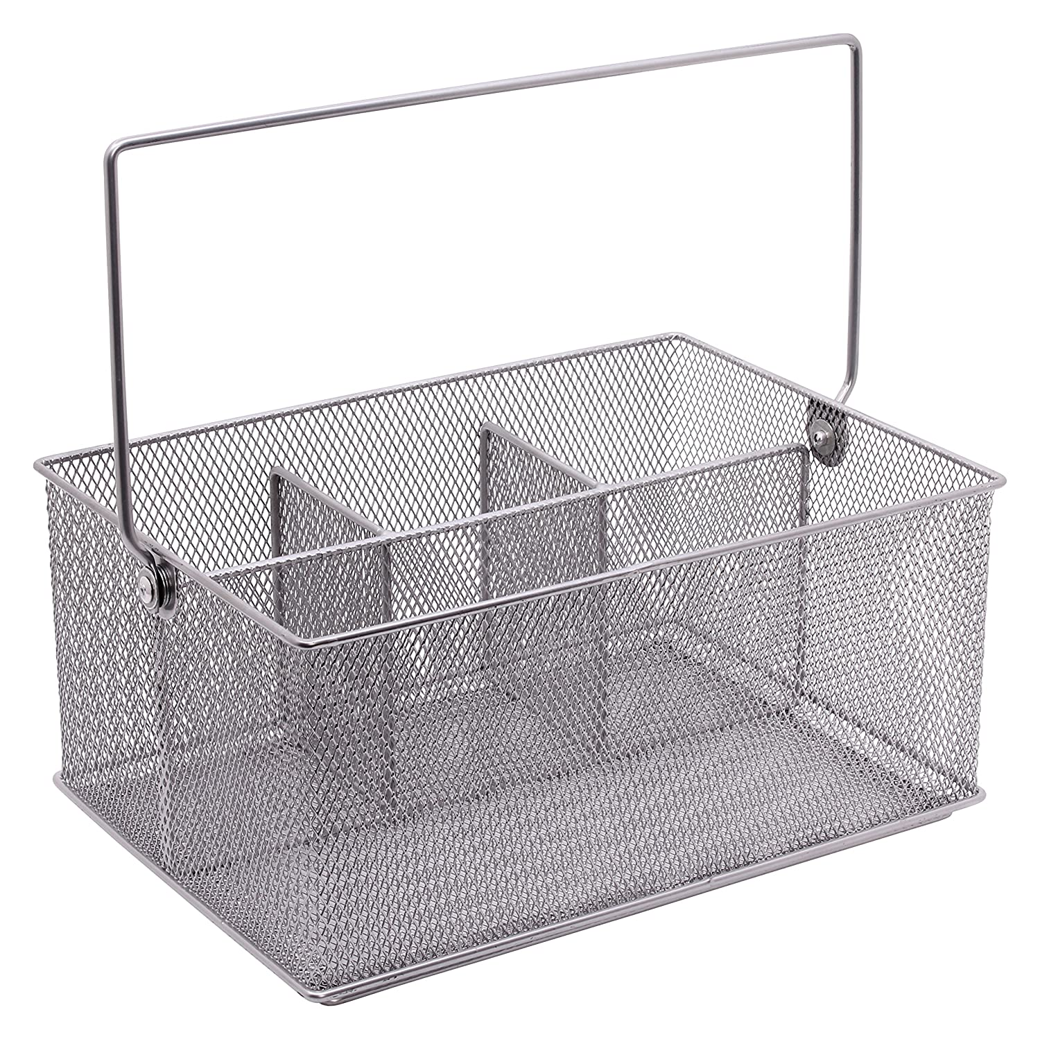 Design Ideas Condiment Caddy Mesh Silver 351729