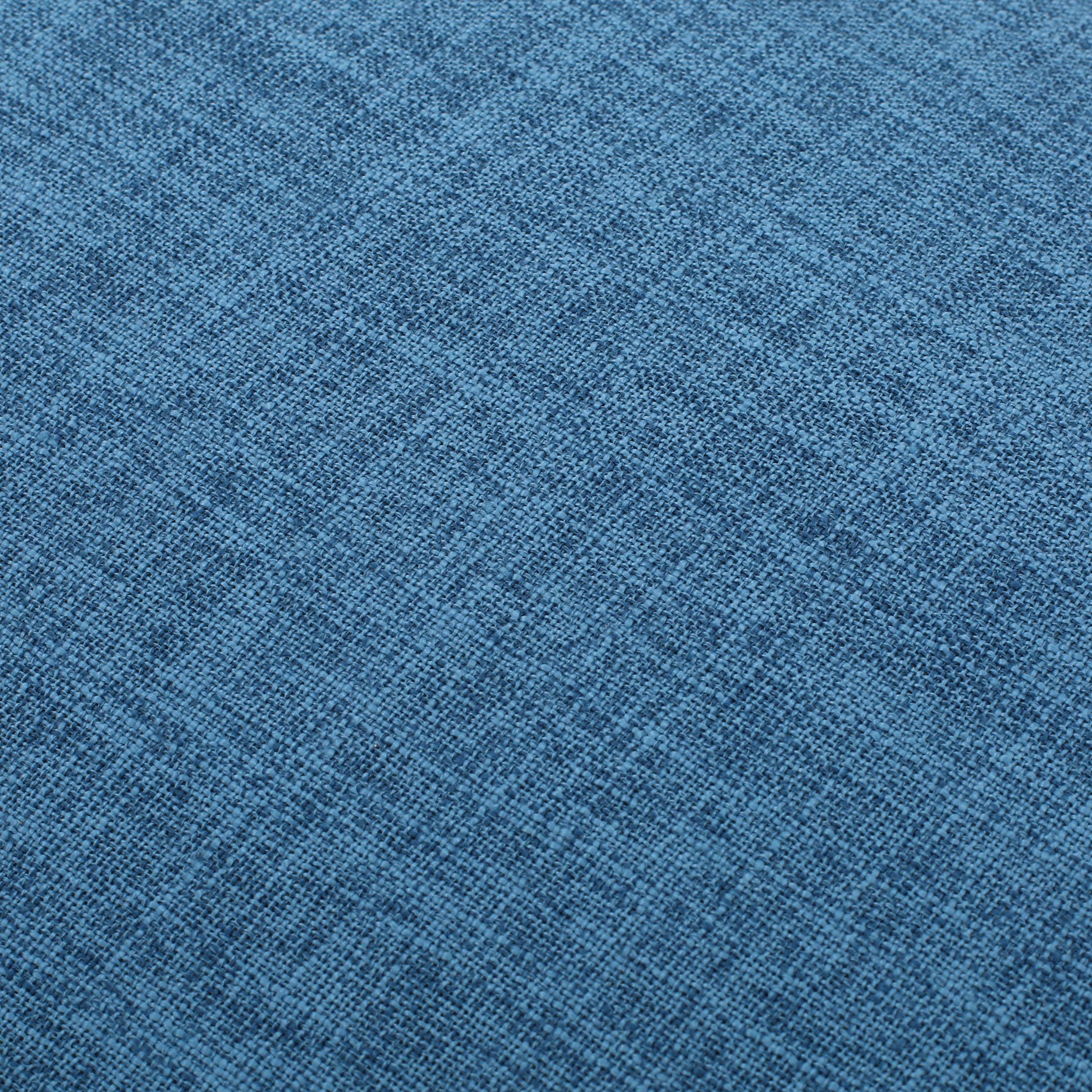 Dumont Mid Century Modern Fabric Ottoman (Blue) by GDF Studio (Image #5)