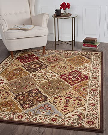 Universal Rugs 105120 Multi 8x10 Area Rug, 7 Feet 6 Inch By 9