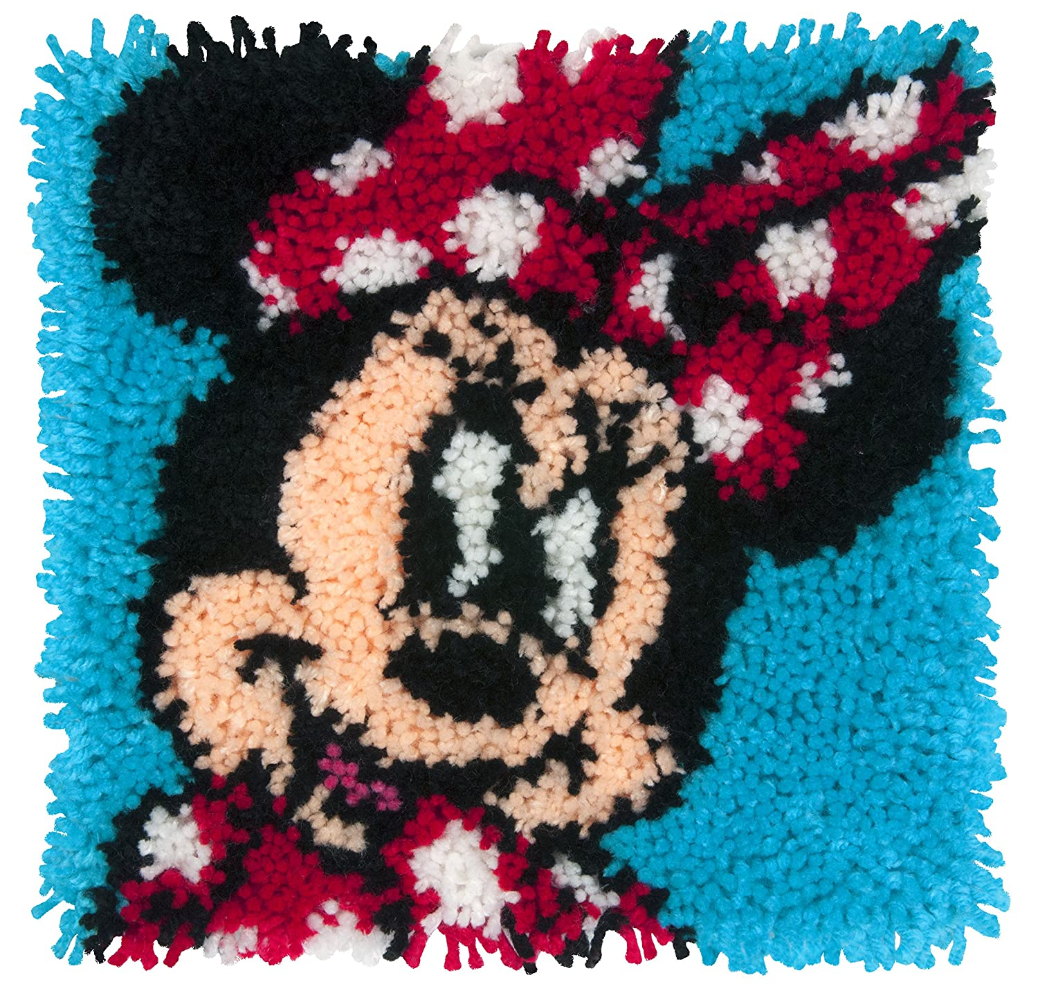 Dimensions Disney Minnie Mouse Latch Hook Craft Kit for Kids 12 x 12
