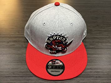 half off 3a8c6 462e3 Toronto Raptors Hardwood Classic Logo Custom Heather Grey Red New Hat Cap  Snapback 9Fifty One Size Fits Most NBA Basketball, Baseball Caps - Amazon  Canada