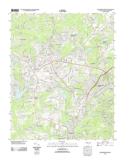 Amazon Com Topographic Map Poster Southern Pines Nc Tnm Geopdf