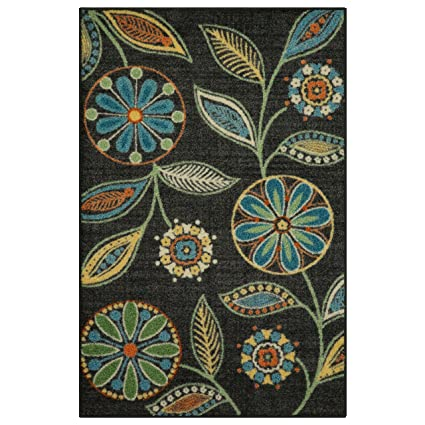 Maples Rugs Kitchen Rug - Reggie Artwork Collection 2.5 x 4 Non Skid Small  Accent Throw Rugs [Made in USA] for Entryway and Bedroom, 2\'6 x 3\'10