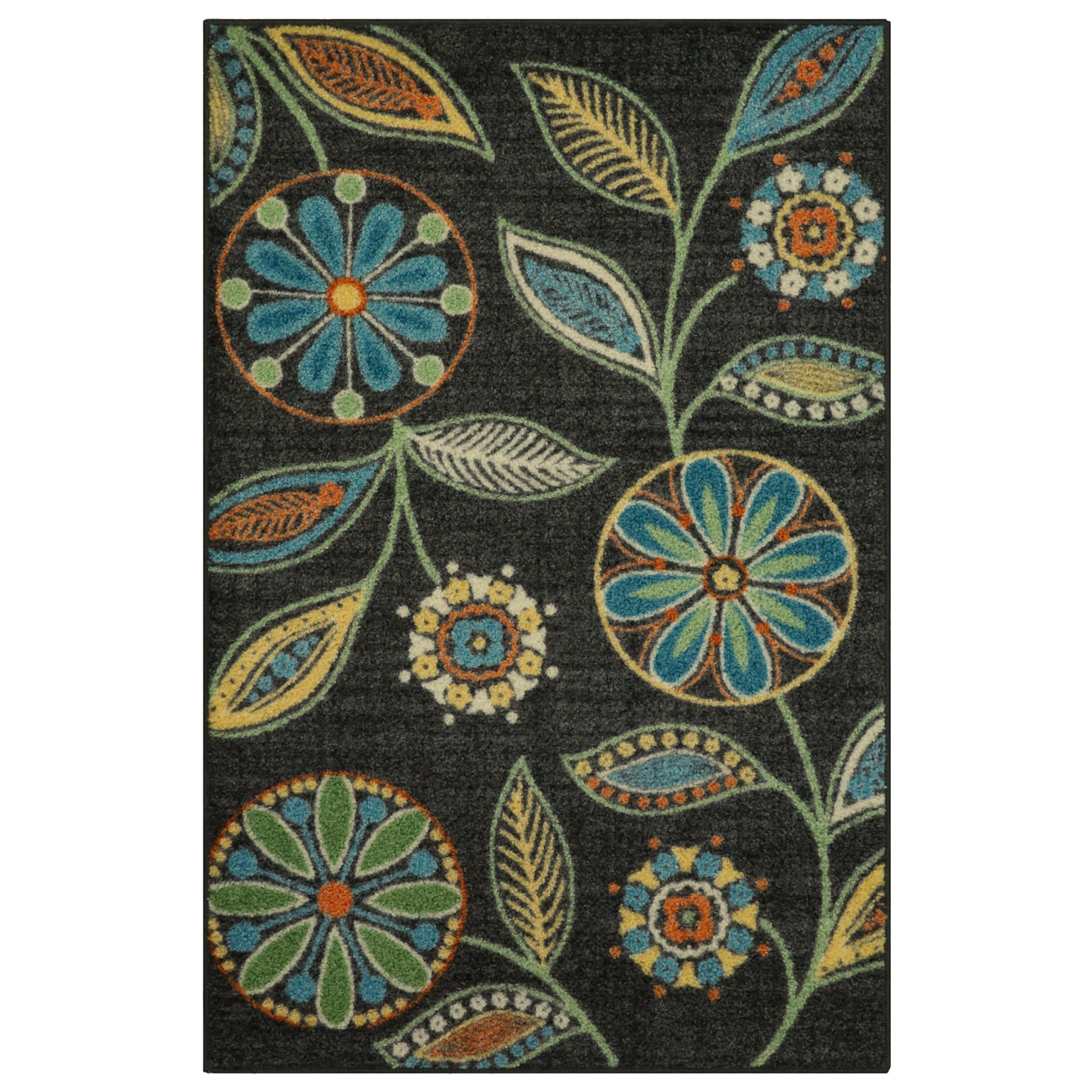 Maples Rugs Kitchen Rug - Reggie Artwork Collection 2.5 x 4 Non Skid Small Accent Throw Rugs [Made in USA] for Entryway and Bedroom, 2'6 x 3'10 by Maples Rugs