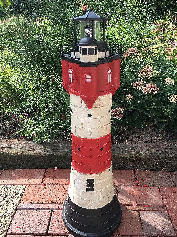 34 cm mit Netzteil Deko Modell Leuchtturm Roter Sand aus Holz mit Blinklicht ca