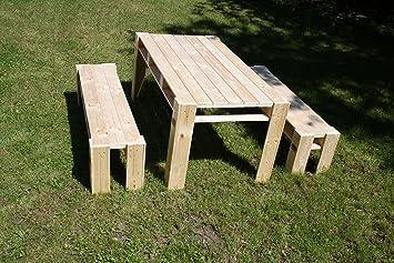 Amazon De Gartenmobel Aus Paletten Lounge Garten Tisch Und 2x Bank